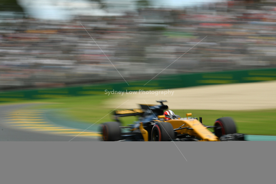 March 25, 2017: Nico Hulkenberg (DEU) #27 from the Renault Sport F1 team during practice session three at the 2017 Australian Formula One Grand Prix at Albert Park, Melbourne, Australia. Photo Sydney Low
