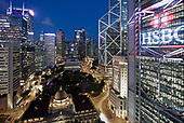 The HSBC headquarters in Hong Kong's Central financial district.