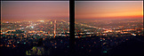 USA, California, Los Angeles, the city lights of Los Angeles at night as seen from the Griffith Park Observatory