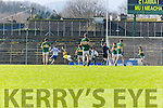 Stephen Gollogly Monaghan slots the ball past Bredan Kealy for Monaghans first goal during  their NFL clash in Fitzgerald Stadium on Sunday