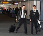 Marc Crosas and Koki Mizuno saunter through the airport