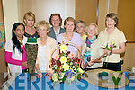 Flower arranging Demonstration: Attending the Flower arranging demonstration held at the Listowel Family Resource Centre on Tuesday evening were in Front Dr. Devayani Roa, Anna Lavery, Kathleen Reidy, Demonstrator, Mary Boyer & Nora O'Sullivan. Back : Kay O'Connor, Jennie Kennelly & Bridie Behan.