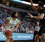 SIOUX FALLS, SD - MARCH 8: Marlon Stewart #1 of the North Dakota Fighting Hawks looks to the basket against the PFW Mastodons at the 2020 Summit League Basketball Championship in Sioux Falls, SD. (Photo by Dave Eggen/Inertia)