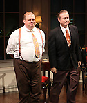 Joel Marsh Garland & Mark Shanahan during the Curtain Call for the Opening Celebration of 'Checkers' at the Vineyard Theatre in New York City on 11/11/2012