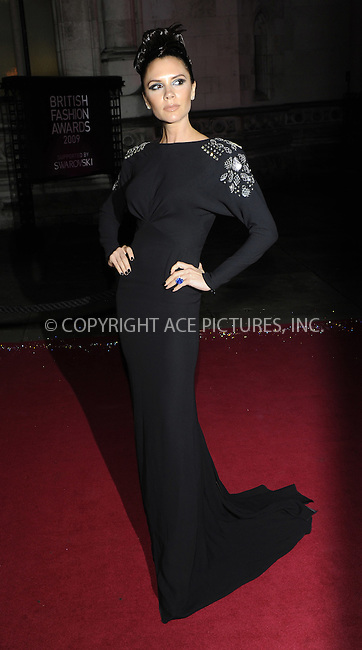 WWW.ACEPIXS.COM . . . . .  ..... . . . . US SALES ONLY . . . . .....December 9 2009, london....Victoria Beckham arriving at the British Fashion Awards at Royal Courts of Justiceon The Strand on December 9, 2009 in London, England.......Please byline: FAMOUS-ACE PICTURES... . . . .  ....Ace Pictures, Inc:  ..tel: (212) 243 8787 or (646) 769 0430..e-mail: info@acepixs.com..web: http://www.acepixs.com