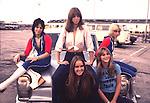 Runaways 1976 Joan Jett, Jackie Fox, Lita Ford, Sandy west, Cherie Currie..© Chris Walter..