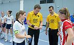 SCHIEDAM - NK reserveteams zaalhockey. Finale Tilburg D2-HDM D2 (1-3) . Scheidsrechters Pascal Engelbertink Jos van der Til,   COPYRIGHT KOEN SUYK