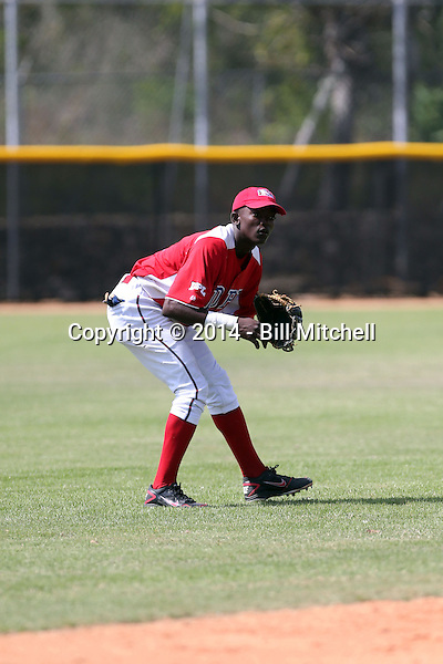 Vidal Brujan participates in the Dominican Prospect League 2014 Louisville Slugger Tournament at the New York Yankees academy in Boca Chica, Dominican Republic on January 20-21, 2014 (Bill Mitchell)