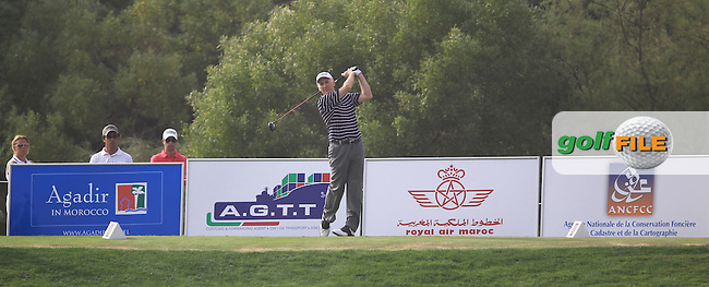 Philip Price (WAL) on the 18th during the final round of Trophée Hassan II, Golf du Palais Royal, Agadir, Morocco 25/03/12.Picture Fran Caffrey www.golffile.ie