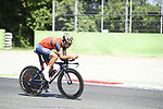Vincenzo Nibali (ITA) Bahrain-Merida in action during Stage 21 of the 100th edition of the Giro d'Italia 2017, an individual time trial running 29.3km from Monza Autodrome to Milan Duomo, Italy. 28th May 2017.<br /> Picture: LaPresse/Fabio Ferrari | Cyclefile<br /> <br /> <br /> All photos usage must carry mandatory copyright credit (&copy; Cyclefile | LaPresse/Fabio Ferrari)