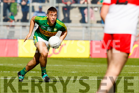 Ryan O'Neill Kerry in action against  Derry in the All-Ireland Minor Footballl Final in Croke Park on Sunday.