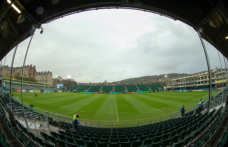 A general view of The Recreation Ground, home of Bath Rugby<br /> <br /> Photographer Bob Bradford/CameraSport<br /> <br /> Gallagher Premiership Round 9 - Bath Rugby v Sale Sharks - Sunday 2nd December 2018 - The Recreation Ground - Bath<br /> <br /> World Copyright &copy; 2018 CameraSport. All rights reserved. 43 Linden Ave. Countesthorpe. Leicester. England. LE8 5PG - Tel: +44 (0) 116 277 4147 - admin@camerasport.com - www.camerasport.com