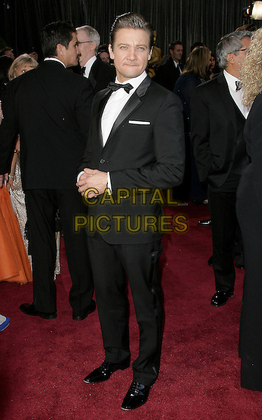 Jeremy Renner.85th Annual Academy Awards held at the Dolby Theatre at Hollywood & Highland Center, Hollywood, California, USA..February 24th, 2013.oscars full length black tuxedo white shirt bow tie .CAP/ADM.©AdMedia/Capital Pictures.