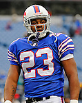 9 December 2007: Buffalo Bills rookie running back Marshawn Lynch warms up prior a game against the Miami Dolphins at Ralph Wilson Stadium in Orchard Park, NY. The Bills defeated the Dolphins 38-17. ..Mandatory Photo Credit: Ed Wolfstein Photo