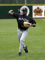 July 25, 2004:  Pitcher Chris Booker of the Louisville Bats, Triple-A International League affiliate of the Cincinnati Reds, during a game at Frontier Field in Rochester, NY.  Photo by:  Mike Janes/Four Seam Images