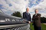 Barry Shrier, founder and CEO of Liberty Electric Cars and Ian Hobday ( brown jacket), Global sales and marketing director..Based in Oxford, UK, Liberty have created the world's first zero emission electric powered Range Rover 4x4.
