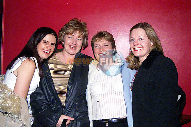 Isabel,Fiona,Marguret and Heather enjoyinging a night out in Storm Nite Club...Pic Newsfile