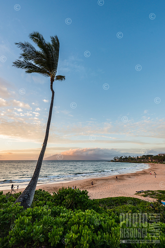 Sunset along the southern coast of Maui as seen from Wailea; another end to a perfect day in paradise.