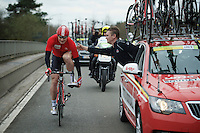 Andr&eacute; Greipel (DEU/Lotto-Soudal) needed to change insoles during the race<br /> <br /> 104th Scheldeprijs 2016