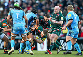 6th January 2018, Welford Road Stadium, Leicester, England; Aviva Premiership rugby, Leicester Tigers versus London Irish; Brendon O'Connor  working hard in the loose for Tigers