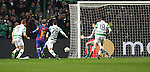 Lionel Messi of Barcelona scores during the Champions League match at Celtic Park, Glasgow. Picture Date: 23rd November 2016. Pic taken by Lynne Cameron/Sportimage