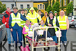 Members of the Chernoybl Childrens Fund pictured at the start of a bed push around North Kerry to raise money for the fund  in Listowel on Saturday last.