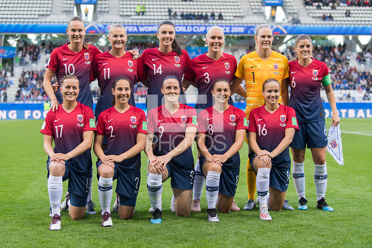 REIMS, FRANCE - JUNE 8: The Norwegian starting XI poses prior to a 2019 FIFA Women's World Cup match between Norway and Nigeria at Stade Auguste-Delaune on June 8, 2019 in Reims, France.