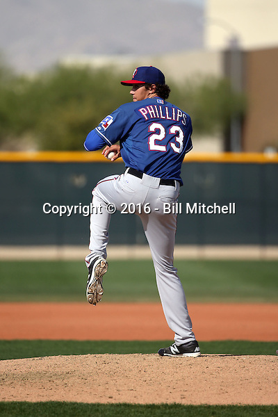 Tyler Phillips - Texas Rangers 2016 spring training (Bill Mitchell)