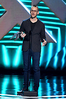 "LOS ANGELES - DECEMBER 6: Donald Mustard accepts the Best Ongoing Game award for ""Fortnite"" (Epic Games) at the 2018 Game Awards at the Microsoft Theater on December 6, 2018 in Los Angeles, California. (Photo by Frank Micelotta/PictureGroup)"