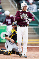 Eric Cheray #14 of the Missouri State Bears walks into the batters box during a game against the Wichita State Shockers at Hammons Field on May 5, 2013 in Springfield, Missouri. (David Welker/Four Seam Images)