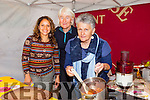 Ladies who are part of Transition Kerry joined forces for the first time in making preserves,chutney,jam making and desserts with coconut and pineapple.Front l-r Noreen White, Mayr Infer and Joan Brosnan at the  Tralee Food Festival in the town Square on Saturday were