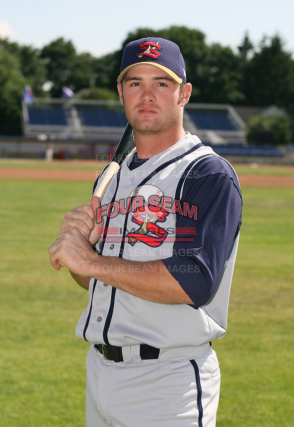 2007:  Nick Stillwagon of the State College Spikes poses for a photo prior to a game vs. the Batavia Muckdogs in New York-Penn League baseball action.  Photo By Mike Janes/Four Seam Images