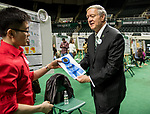 Quyen Luong receives a 1st place ribbon from president Duane Nellis.