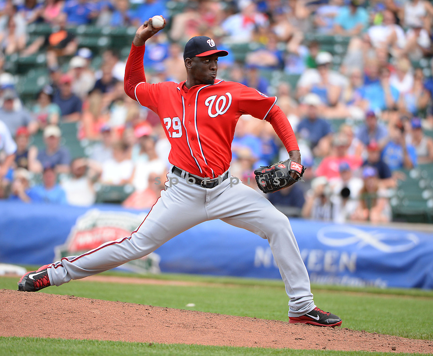 Washington Nationals Rafael Soriano (29) during a game against the Chicago Cubs on June 28, 2014 at Wrigley Field in Chicago, IL. The Nationals beat the Cubs 3-0.