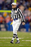 17 December 2005: NFL Referee Bernie Kukar announces a play between the Buffalo Bills and the Denver Broncos at Ralph Wilson Stadium in Orchard Park, NY. The Broncos defeated the Bills 28-17. .Mandatory Photo Credit: Ed Wolfstein