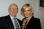 Another World and Blue Bloods and co-misstress of ceremonies Amy Carlson and with Blue Bloods costar Len Cariou - 19th Annual HoG New York - Hearts of Gold Gala 2015 celebrating twenty-one years of support for New York City homeless mothers and their children founded by Deborah Koenigsberger on November 5, 2015 at NASDAQ MarketSite, New York City, New York. (Photo by Sue Coflin/Max Photos)
