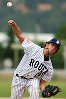 21 May 2009: Saad Anouar of Rouen pitches against Clermont-Ferrand during the 2009 challenge de France, a tournament with the best French baseball teams - all eight elite league clubs - to determine a spot in the European Cup next year, at Montpellier, France.