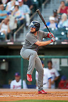 Lehigh Valley IronPigs designated hitter Brock Stassi (10) at bat during a game against the Buffalo Bisons on August 29, 2016 at Coca-Cola Field in Buffalo, New York.  Buffalo defeated Lehigh Valley 3-2.  (Mike Janes/Four Seam Images)