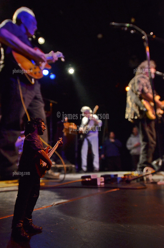 Jerry Garcia onstage with FishHead Stew in Concert at FTC StageOne, February 8, 2012. Former Radiators members: Dave Malone (guitar), Camile Baudoin (guitar), Reggie Scanlan (bass) and Adam Deitch.
