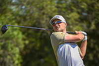 Austin Cook (USA) watches his tee shot on 9 during Round 1 of the Valero Texas Open, AT&amp;T Oaks Course, TPC San Antonio, San Antonio, Texas, USA. 4/19/2018.<br /> Picture: Golffile | Ken Murray<br /> <br /> <br /> All photo usage must carry mandatory copyright credit (&copy; Golffile | Ken Murray)