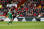 John Fleck of Sheffield Utd  takes a long range shot during the championship match at the Bramall Lane Stadium, Sheffield. Picture date 28th April 2018. Picture credit should read: Simon Bellis/Sportimage