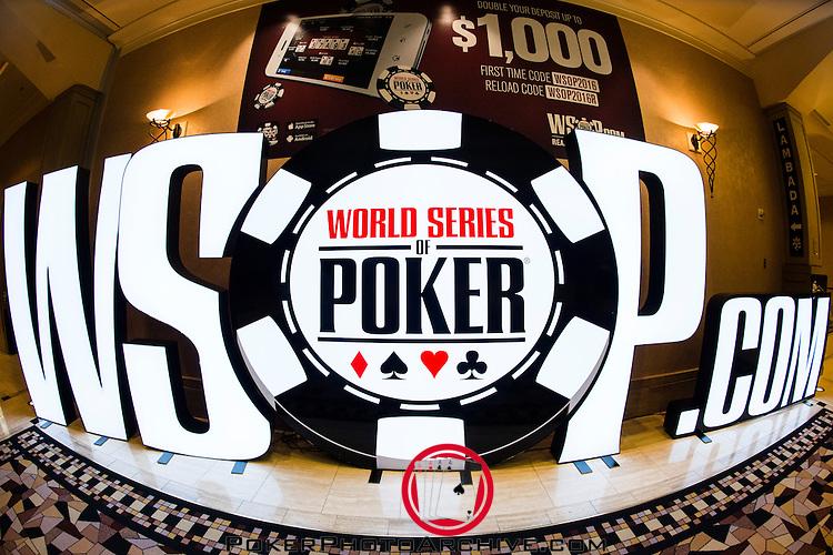 WSOP.com hall sign