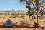 Moab, Utah, camping, Sand Flats Recreation Area, SFRA, public lands, Colorado Plateau, La Sal Mountains, car camping, hiking, Scott McCredie,