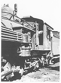 Partial fireman's-side view of air pump and cab area of D&amp;RGW #487.<br /> D&amp;RGW
