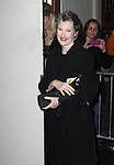 Annette O'Toole.exiting the Stager Door after  the Broadway Opening Night Performance of 'Gore Vidal's The Best Man' at the Gerald Schoenfeld Theatre in New York City on 4/1/2012