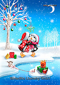 Roger, CHRISTMAS ANIMALS, WEIHNACHTEN TIERE, NAVIDAD ANIMALES, paintings+++++,GBRM19-0090,#xa#