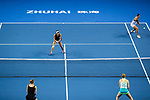 Jing-Jing Lu and Shuai Zhang of China in action during the doubles Round Robin match of the WTA Elite Trophy Zhuhai 2017 against Alicja Rosolska of Poland and Anna Smith of Great Britain at Hengqin Tennis Center on November  01, 2017 in Zhuhai, China.Photo by Yu Chun Christopher Wong / Power Sport Images