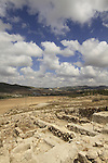 Israel, Shephelah, excavations in the northern part of Tel Beth Shemesh exposed ruins from the Israelite period
