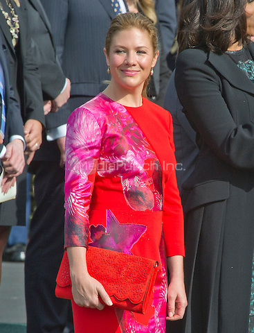Mrs. Sophie Gr&Egrave;goire Trudeau attends the Arrival Ceremony opening the Official Visit of Prime Minister Justin Trudeau of Canada the South Lawn of the White House in Washington, DC on Thursday, March 10, 2016. <br /> Credit: Ron Sachs / CNP/MediaPunch