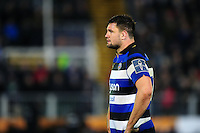 Elliott Stooke of Bath Rugby looks on during a break in play. Anglo-Welsh Cup match, between Bath Rugby and Leicester Tigers on November 4, 2016 at the Recreation Ground in Bath, England. Photo by: Patrick Khachfe / Onside Images